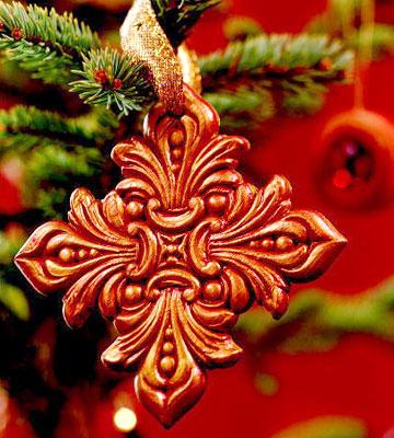 Merry Medallion Christmas Ornament