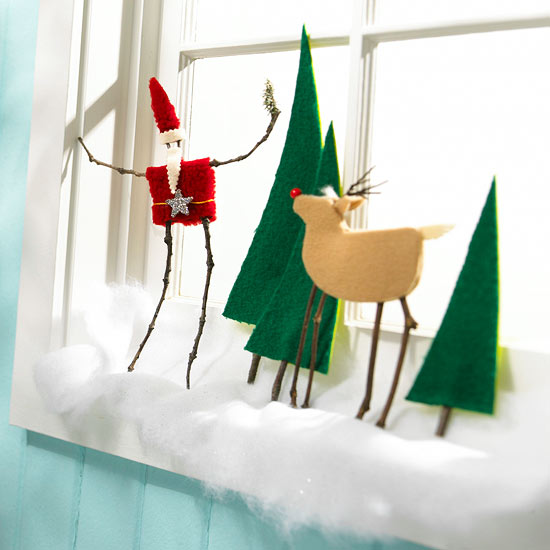 Crafty Christmas Scene Made from Wool
