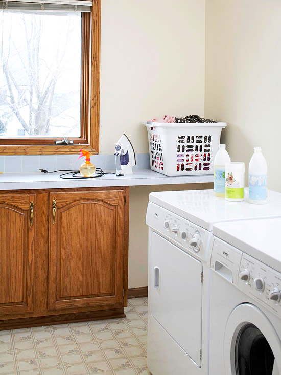 Home decorating a colorful laundry room makeover - Laundry room color ideas ...