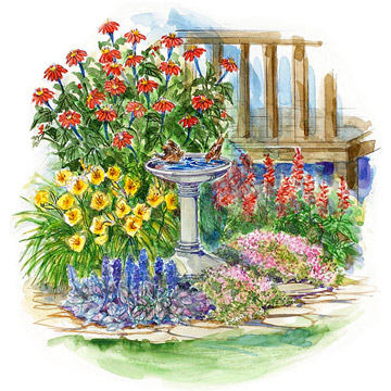 flower garden plans. Small-Space, Drought-Resistant Garden Plan Flower Plans