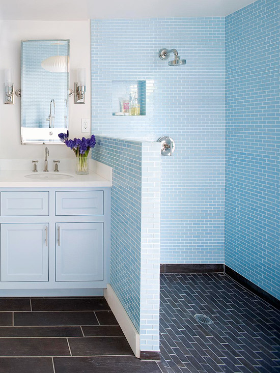 Shower Remodeling Tips - Tile shower designs without doors