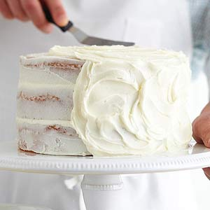 Before You Can Start Cake Decorating Have To Generously Spread The Base Frosting Along All Sides Of Your We Used Vanilla Sour Cream