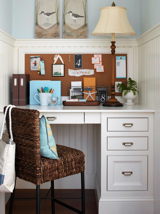 Nice Home Office Storage Ideas For Small Spaces Part - 4: Small But Efficient