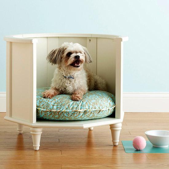 pet bed, dog bed, side table diy dog bed