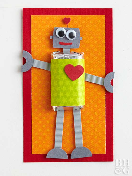 Robot Valentine Candy Card