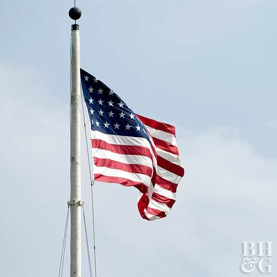 6 ft Worksman Safety Flag on Pole 3978PC