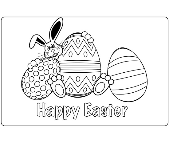 Adorable easter bunny crafts free easter bunny place mat pronofoot35fo Image collections