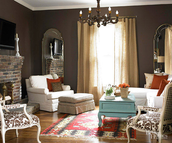 how to make old curtains fit in to colour schemes
