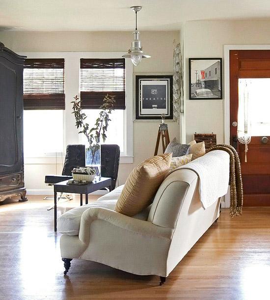 hardwood living room.  How to Wax Hardwood Floors