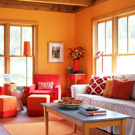 Decorating With Orange Walls