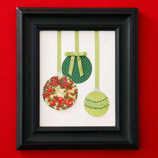 Christmas Card Ornament Art