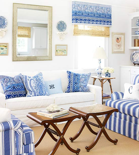 Decorating Ideas for Blue Living Rooms -- Better Homes and ...