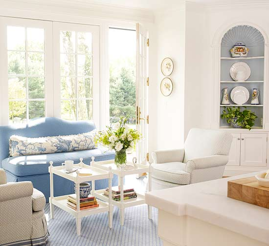 2013 Neutral Living Room Decorating Ideas From Bhg: Decorating Ideas For Blue Living Rooms -- Better Homes And