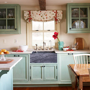 Ordinaire Blue Shaded Green Kitchen Cabinets Create Serene Scenes That Suit Designs  Ranging From Nostalgic 1950s To Old World Antiquity.