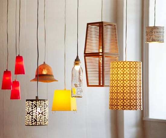 Repurposed container pendant lights
