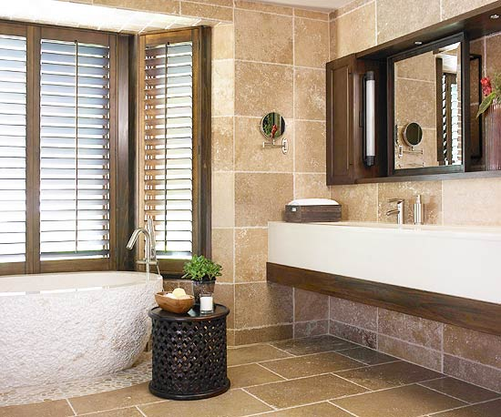 Nature Inspired Bathroom Makeovers