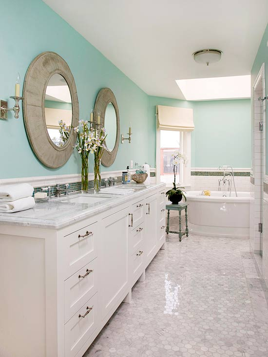bathroom paint color ideas bathroom paint ideas better homes and gardens bhg 16341