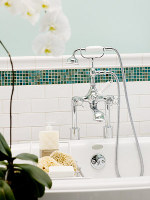 Subway Tile With A Decorative Border