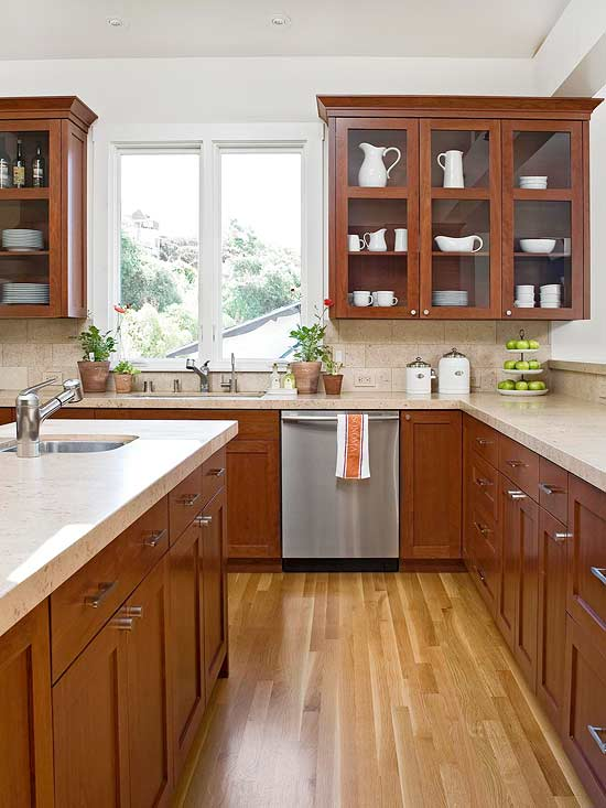 kitchen cabinet wood stains understanding wood cabinet finishes better homes and 5877