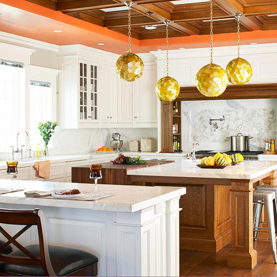 21 Impressive Cool Kitchen Island Design Ideas: Home Design Ideas: Distinctive Ceilings
