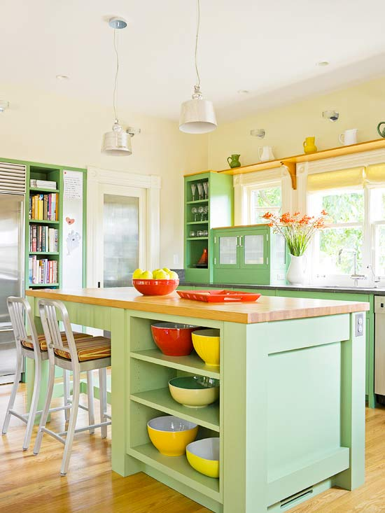 charming colorful kitchen designs | Colorful Kitchen Cabinetry