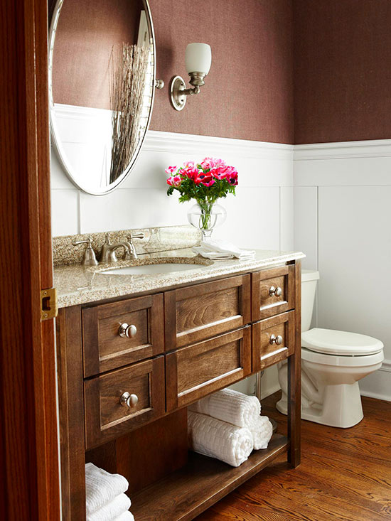 Brown And White Bathroom. Brown and White What Colors Go with