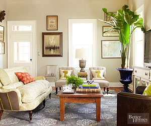 banish the superfluous stow the clutter and rethink furniture arrangements to overhaul your living room without spending a dime - Living Room Design Ideas On A Budget