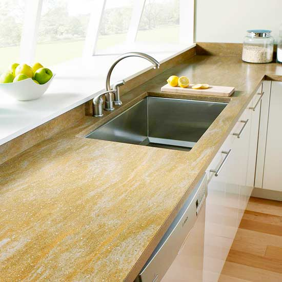 Cultured Stone Countertop Guide | Better Homes & Gardens on best sinks for granite countertops, kitchen backsplash ideas for granite countertops, kitchen granite countertop undercounter sinks, kitchen colors for granite countertops, kitchen sink countertop combination, kitchen countertops and sinks, kitchen sinks for garbage disposal, top mount sinks for granite countertops, kitchen faucets, composite granite countertops, stainless steel sinks for granite countertops, bathroom sink with granite countertops, kitchen sinks with granite counters,
