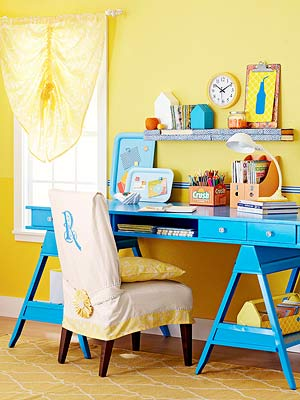 How To Update A Home Office With Paint