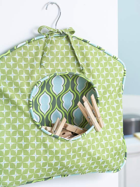How To: Fabric Clothespin Caddy