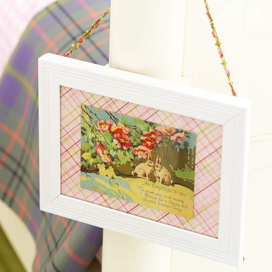 Framed Easter Postcard