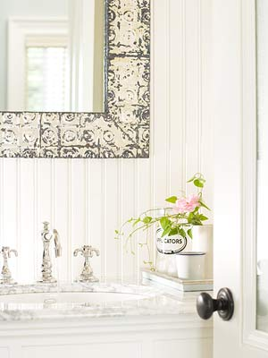 Beaded-Board Bathrooms