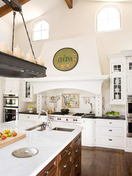 tuscan kitchen designs photo gallery tuscan kitchen decor better homes and gardens bhg 360