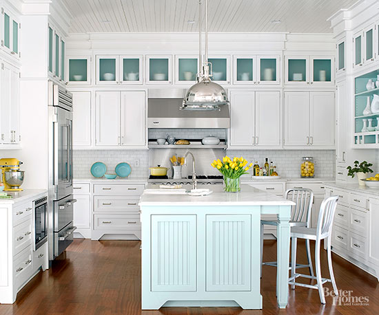 Cottage kitchen designs for Beach house kitchen plans