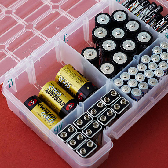 Organize your batteries better homes and gardens bhg solutioingenieria Images