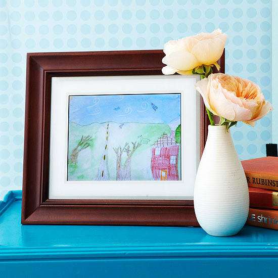 6 Ways to Display Kids' Artwork