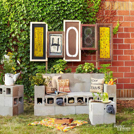 Create an Outdoor Entertainment Area from Salvaged Finds
