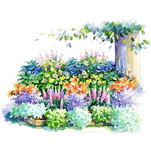 no fuss shade garden plan - Flower Garden Ideas Shade