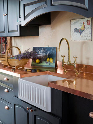 Metal Countertops Pair Well With Black Kitchen Cabinets. Depending On The  Combination Of Materials And Details, The Looks Can Be Completely Different.