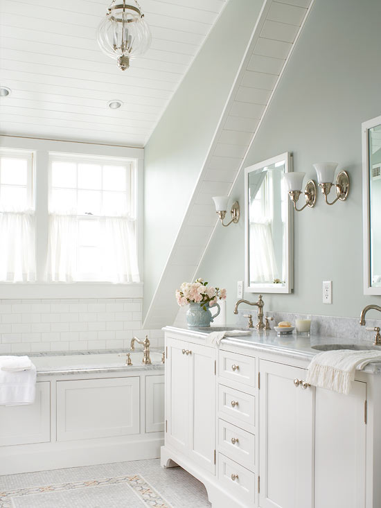 Light Grey And White Bathroom. Tips for Bathroom Color Schemes