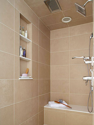 Tile Is Perfect For Cladding The Walls Of A Shower Because It Stands Up Well To Moisture This Are Covered In Pattern Stacked Large