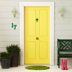 Think About Your Favorite Front Doors Perhaps A Sunny Yellow One At Friend S House Makes You Feel Especially Welcome Cottage Style Home
