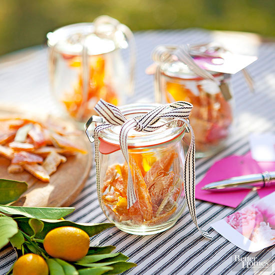 Candied Fruit Party Favors