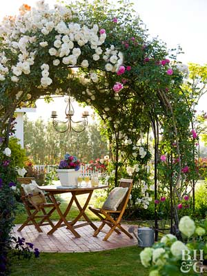 even if you dont have a thatched roof you can give your home a romantic attitude with the right props a low fence such as a classic white picket or