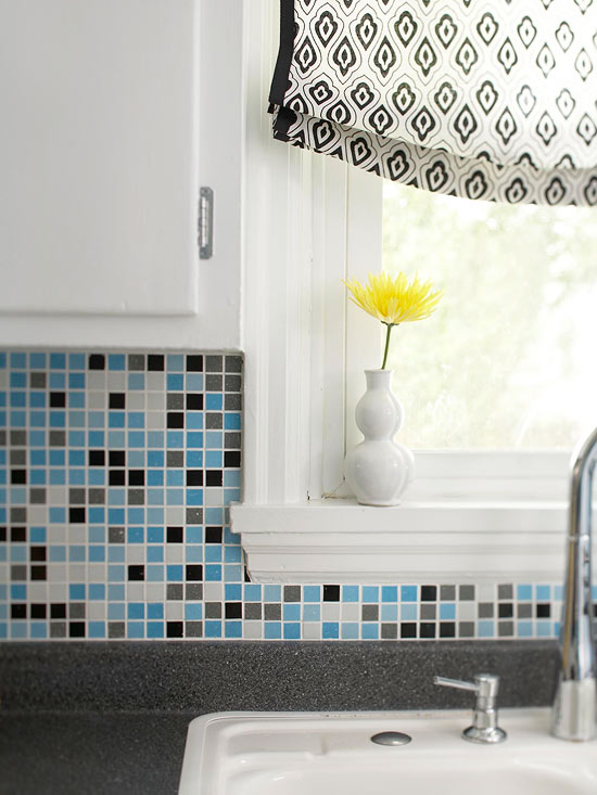 Colorful backsplash for Mosaik fliesen kuche