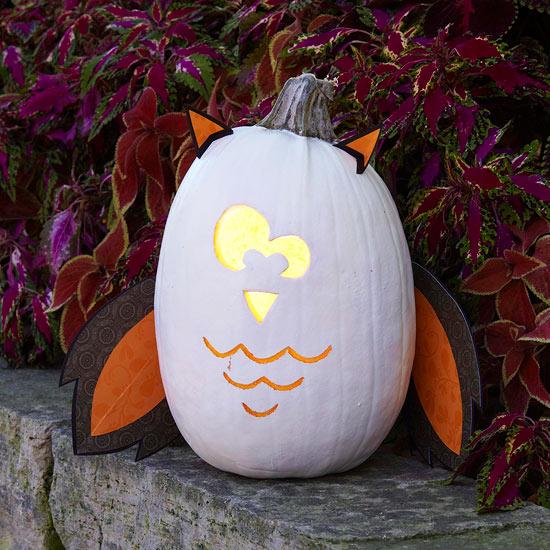Halloween Owl Pumpkin Stencil