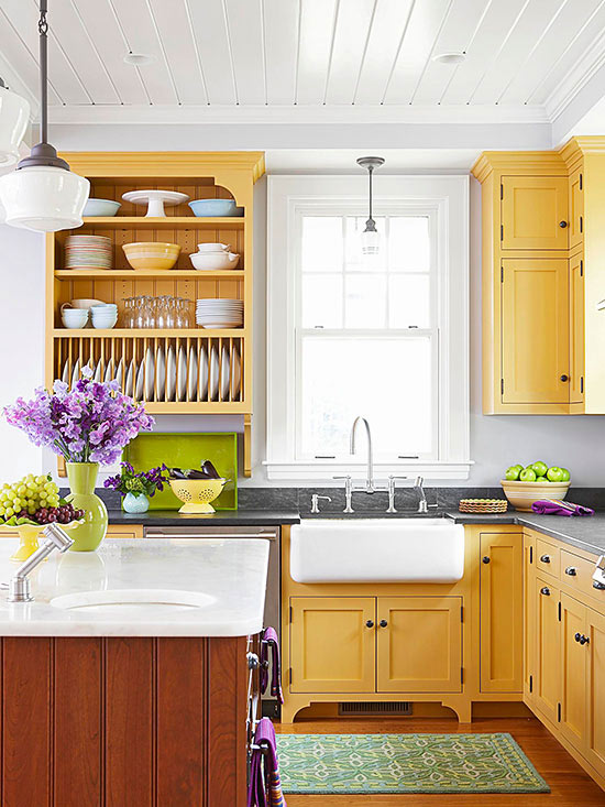Low cost kitchen updates better homes and gardens for Low cost home additions