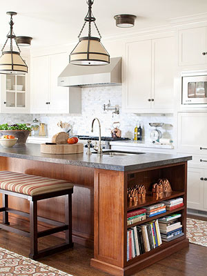 step 2  analyze available layout options for kitchen island seating  how to determine seating for kitchen islands  rh   bhg com