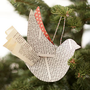 Use Our Free Pattern To Create A Flock Of Paper Bird Ornaments Decorate The Tree This Holiday Cut And Wing Shapes For From An Old
