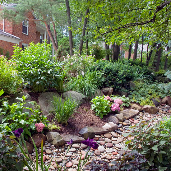 5 Easy Steps to Make a Rain Garden | Better Homes & Gardens Rain Garden Drawing Design Ideas on raised bed gardening design ideas, rain water garden ideas, greenhouse design ideas, landscape design ideas, rain garden construction, rain barrel design ideas, rain garden plans, downtown design ideas, rain garden installation, rain garden architecture, rain garden design diagrams, flower box design ideas, orchard design ideas, rain garden layout, rain gardening, permaculture design ideas, rain garden design templates, rain garden plants, rain garden design software, root cellar design ideas,